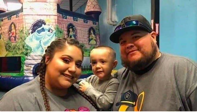 Mariah and Adan Gonzalez hold their boy, Raiden, who lost both parents to COVID-19. - GOFUNDME / PASSING OF MARIAH GONZALEZ