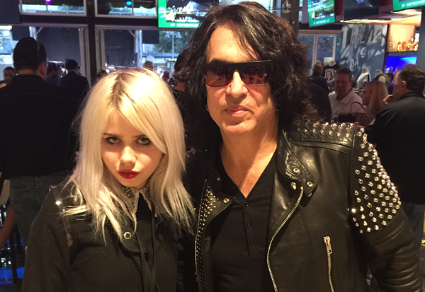 Our freelancer Shannon Sweet with the Paul Stanley. - TRAVIS BUFFKIN