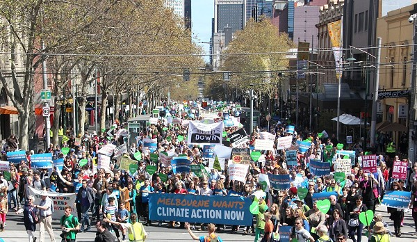 This photo shows a 2014 climate change march. - WIKIMEDIA