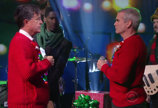If this doesn't get you in the holiday spirit ... I don't know. You may not be a big Henry Rollins fan. You don't find ugly sweaters that funny. Not my problem, really. This is like cute, cuddly kittens for me. - YOUTUBE