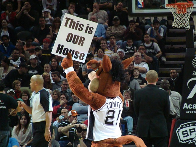 The Spurs Coyote leads the pack, as for as Alamo City mascots go. - WIKIMEDIA