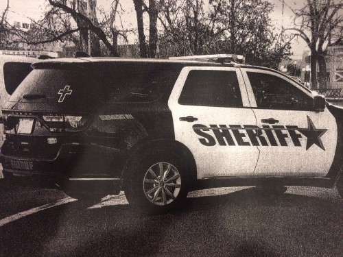 Gov. Greg Abbott said through a spokesman that he supports the crosses on Brewster County Sheriff's vehicles. - 83RD DISTRICT ATTORNEY'S OFFICE