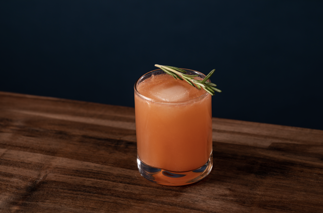 The winning cocktail features a generous pour of Garrison Brothers bourbon touched with notes of fruit and rosemary. - COURTESY GARRISON BROTHERS