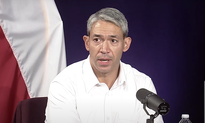 Mayor Ron Nirenberg discusses the city's pandemic enforcement efforts during Tuesday's press briefing. - YOUTUBE / CITY OF SAN ANTONIO