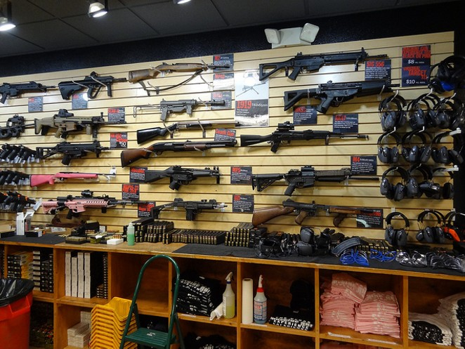 The inside of one of over 64,000 gun sellers in the United States. - FLICKR CREATIVE COMMONS/ANDY NUGENT