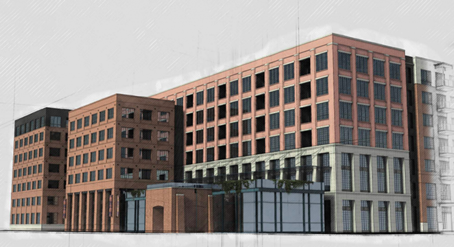 The Elmira Apartments is a 7-story apartment building planned for 1126 E. Elmira St. - COURTESY IMAGE / DON B. MCDONALD
