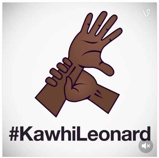 Kawhi Leonard's custom emoji - VINE/NBA