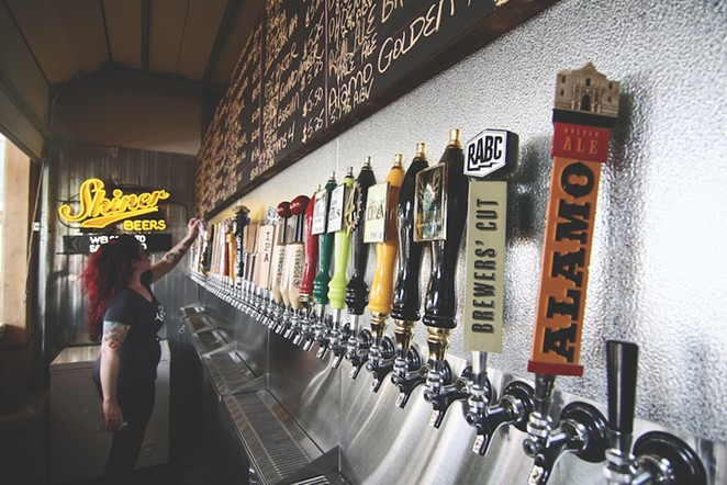 Reward yourself with a mid-day craft brew at The Cove's open-air bar.