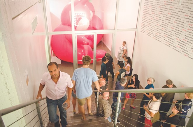 Eclectic crowds flock to Artpace for exhibition openings throughout the year.