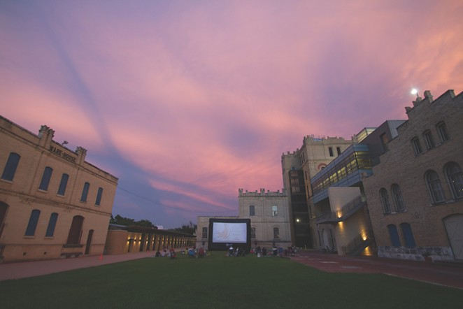 The San Antonio Museum of Art is one of many local venues hosting outdoor screenings in partnership with Slab Cinema.