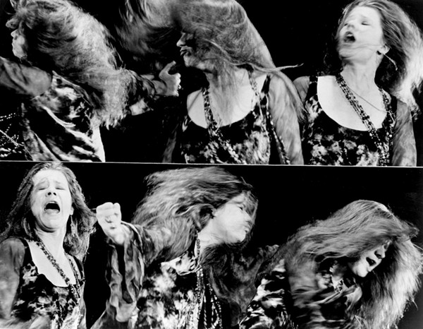 Texas native Janis Joplin mid groove - WIKIMEDIA