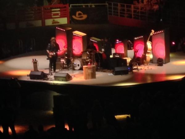 Stapleton on the rotating stage - TRAVIS BUFFKIN
