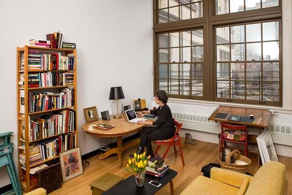 This photo shows a shot inside a residence at El Barrio's Artspace  PS109 in New York City. - JAMES SHANKS   ARTSPACE