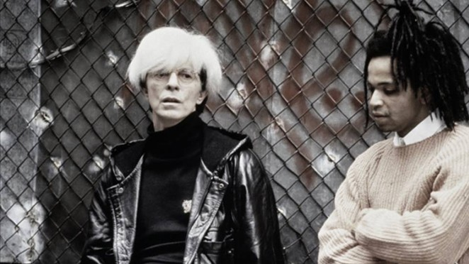 Basquiat with David Bowie's Andy Warhol. - FACEBOOK