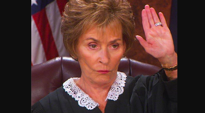 Judy Sheindlin, host ofJudge Judy, is among the TV reality show jurists to slam the door in an increasingly desperate Ken Paxton's face. - TWITTER / @JUDGEJUDY