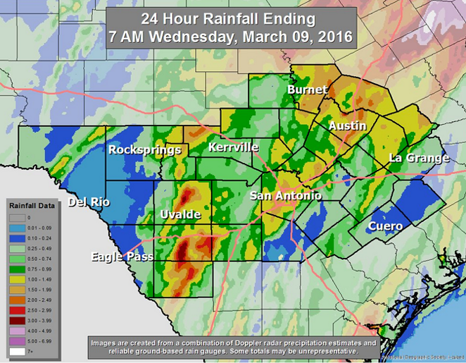 More rain is on the way for SA. - TWITTER/NATIONAL WEATHER SERVICE SAN ANTONIO