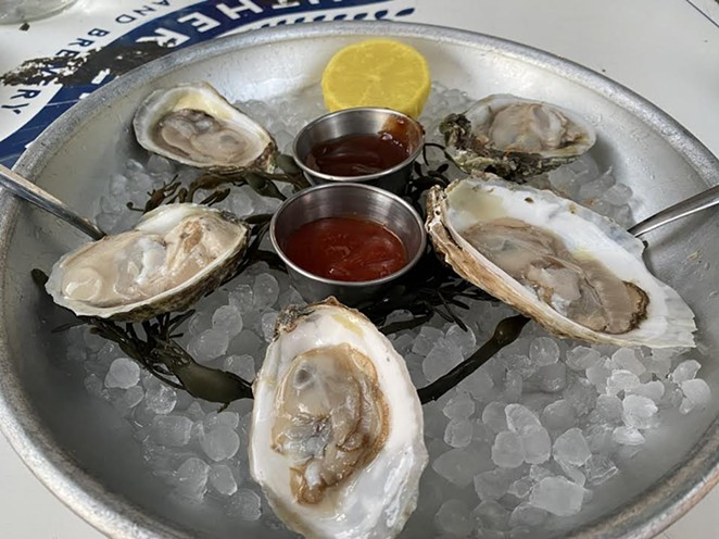 Southerleigh at the Pearl offers outdoor seating and a chance to pair oysters with beer. - RON BECHTOL