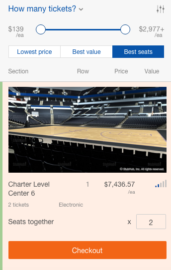 Only the finest, right? - STUBHUB