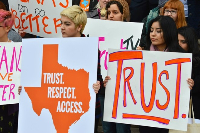 A new report shows how House Bill 2 has impacted women's access to abortion clinics. - NARAL PRO-CHOICE TEXAS/FACEBOOK
