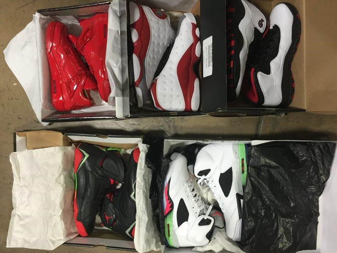 These sneakers — and so much more — could be yours at this week's SAPD asset seizure auction. - SAN ANTONIO POLICE DEPARTMENT