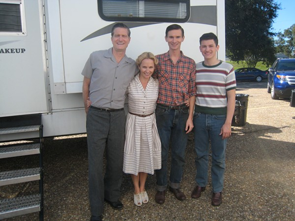 Gossett with Williams' in-laws on the set of I Saw the Light. - COURTESY