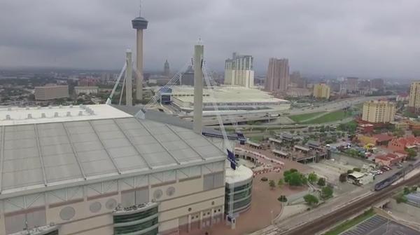 David Zamarripa's drone captures Downtown. - DAVID ZAMARRIPA/YOUTUBE
