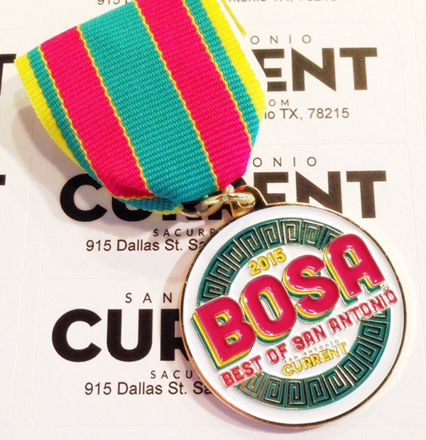 Will yours rival the Current's 2015 Best of San Antonio medal? - SAN ANTONIO CURRENT