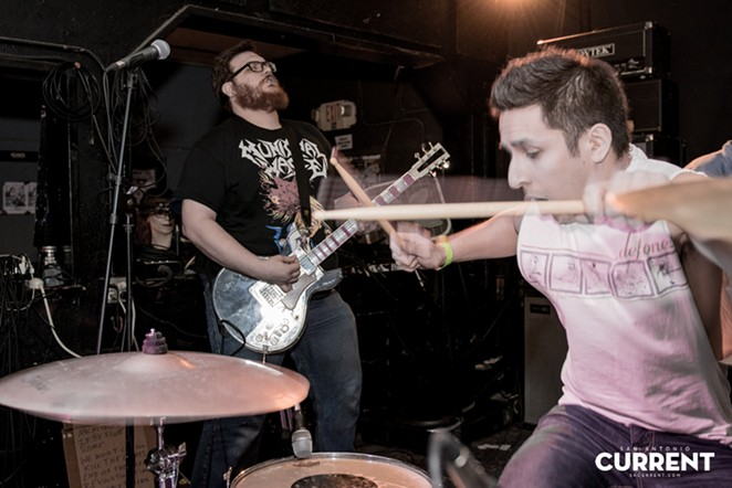 The Grasshopper Lies Heavy's James Woodard (guitar) and Eric Sandoval (drums). - JAIME MONZON