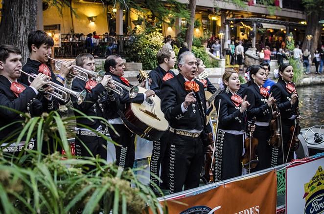 Mariachi band on the Riverwalk - CHRIS EDLEY