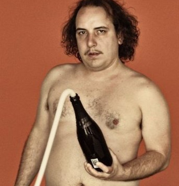 Sean Tillman, aka Har Mar Superstar and some bubbly. - FACEBOOK