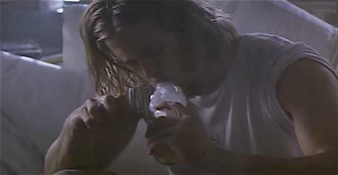 "Brad Pitt as ""Floyd"" in True Romance. - YOUTUBE"