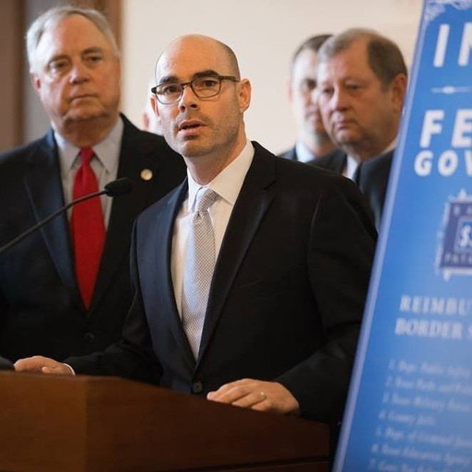 Dennis Bonnen speaks at an event held prior to the pandemic. - FACEBOOK / DENNIS BONNEN