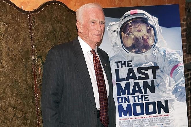 Retired Apollo astronaut Gene Cernan attends The Last Man on the Moon screening in New York in February. - BRENT N. CLARKE