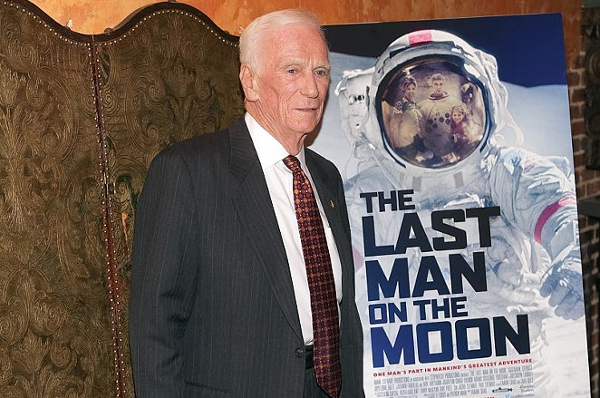 Retired Apollo astronaut Gene Cernan attends The Last Man on the Moon screening in New York in February. - BRENT N. CLARKE