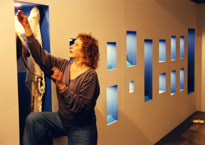 Carolee Schneemann during her 1999 Artpace residency. - COURTESY OF ARTPACE SAN ANTONIO.