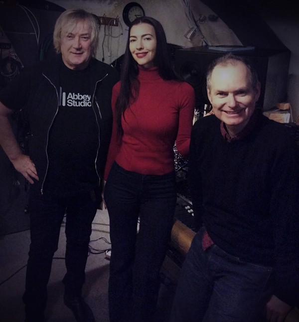 Yes, Asia and the Buggles' Geoff Downes, Chrysta Bell and John Parish at Toybox Studios. - CHRISTOPHER SMART