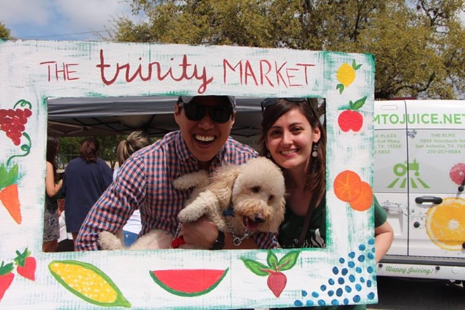 This puppy is having all the fun. - COURTESY/THE TRINITY MARKET