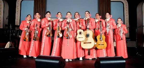 The ten mujeres of Mariachi Las Alteñas. - COURTESY