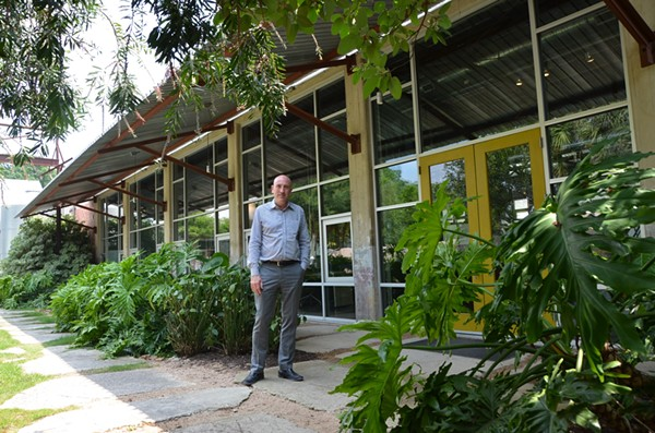 Irby Hightower, founding principal at Alamo Architects, stands outside of the firm's Southtown headquarters. - MARK REAGAN | SAN ANTONIO CURRENT
