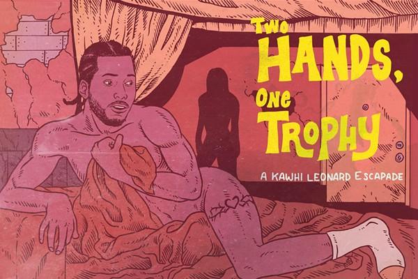 """kawhi leonard, vulnerable but sexy, and an enchantress"" - ARTURO TORRES"