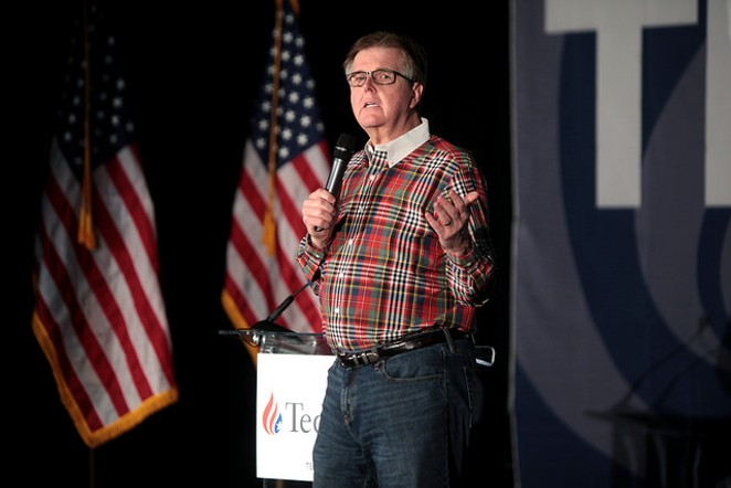 Lt. Gov. Dan Patrick stumping for Sen. Ted Cruz in February. - FLICKR CREATIVE COMMONS/GAGE SKIDMORE