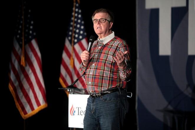 Lt. Gov. Dan Patrick stumping for Sen. Ted Cruz in February. - FLICKR CREATIVE COMMONS/GAGE SKIDMORE