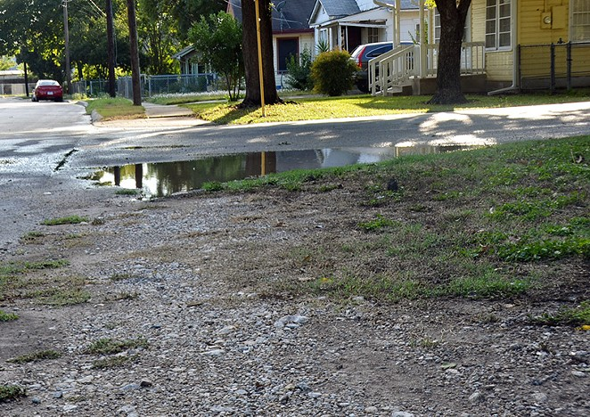 San Antonio's incomplete sidewalk grid highlights  the city's infrastructure inequalities. - MICHAEL MARKS