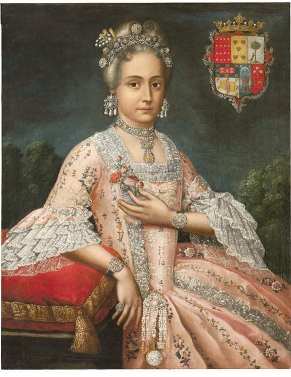 ATTRIBUTED TO CRISTÓBAL LOZANO (PERUVIAN, 1705-1776), ROSA DE SALAZAR Y GABIÑO, COUNTESS OF MONTEBLANCO AND MONTEMAR, 1764-1771