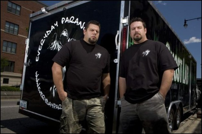 Brad and Barry Klinge of Discovery Channel's Ghost Lab. - COURTESY