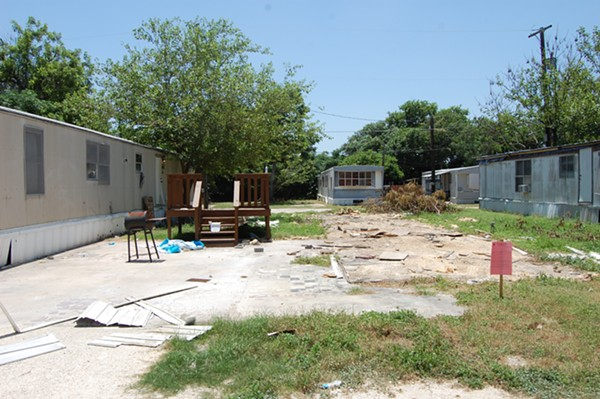 Some mobile homes have already been removed from the Plaza Mobile Home Park. - MICHAEL MARKS
