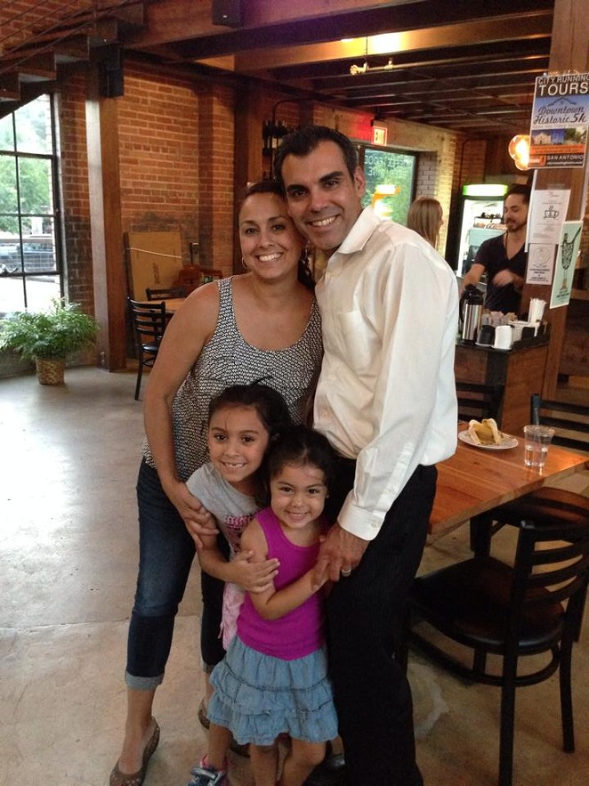 Charles Gonzalez with wife Monika and daughters Ella Sofia and Olivia. - COURTESY