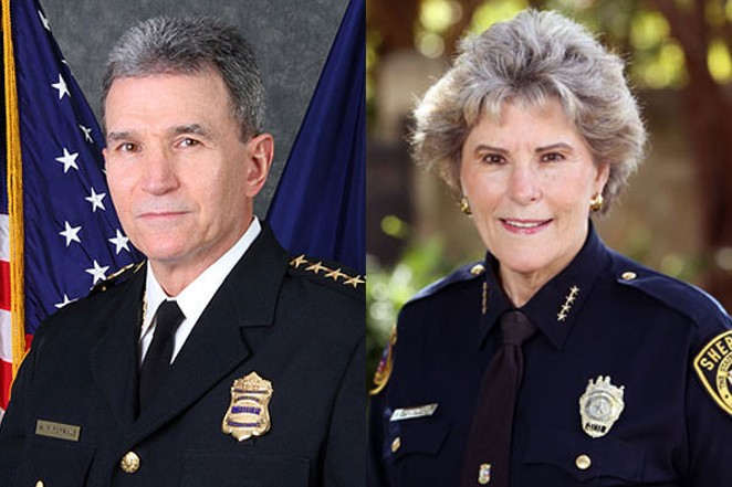 Police Chief William McManus and Bexar County Sheriff Susan Pamerleau will participate in a panel discussion on safety for the LGBT community at the Stonewall Democrats meeting on June 20. (Courtesy photos)