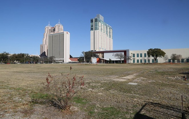 The site of the future Civic Park at Hemisfair. - BEN OLIVO / SA HERON