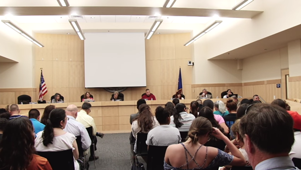 At this June 15 meeting, the South San ISD attempted to discuss the role of Texas Education Agency Conservator Judy Castleberry in closed session. - YOUTUBE SCREENSHOT